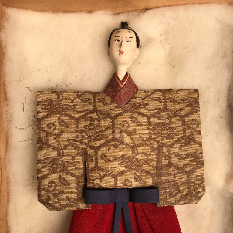 19th Century Japanese Imperial Couple Pair of Dolls, 1840 For Sale