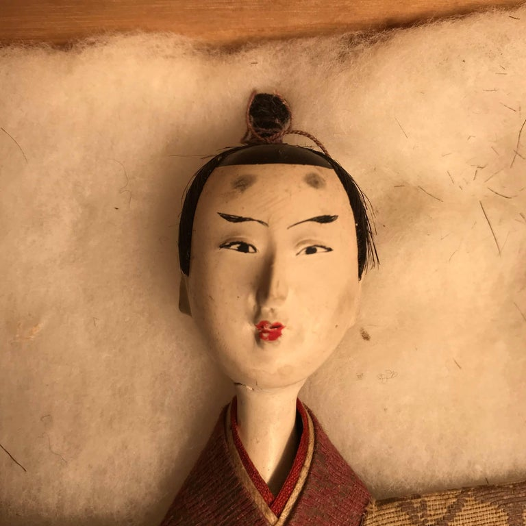 Shell Japanese Imperial Couple Pair of Dolls, 1840 For Sale