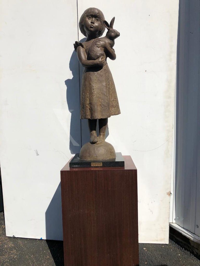 Mid-Century Modern Japanese Important Artist Cast Bronze