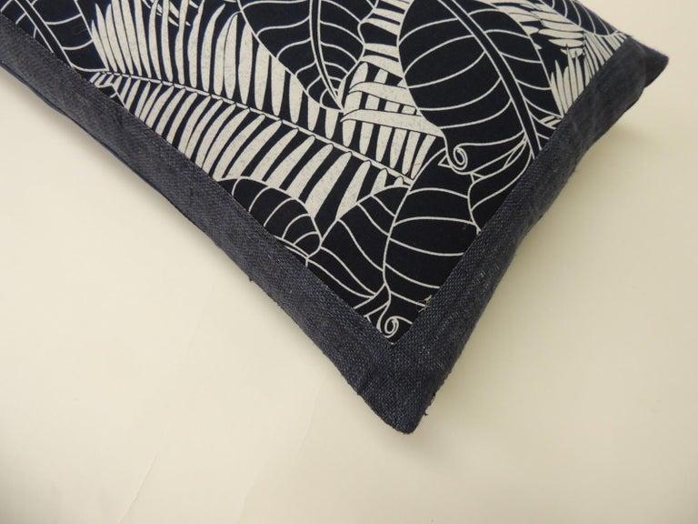 Hand-Crafted Japanese Indigo Batik Bolster Decorative Pillow For Sale