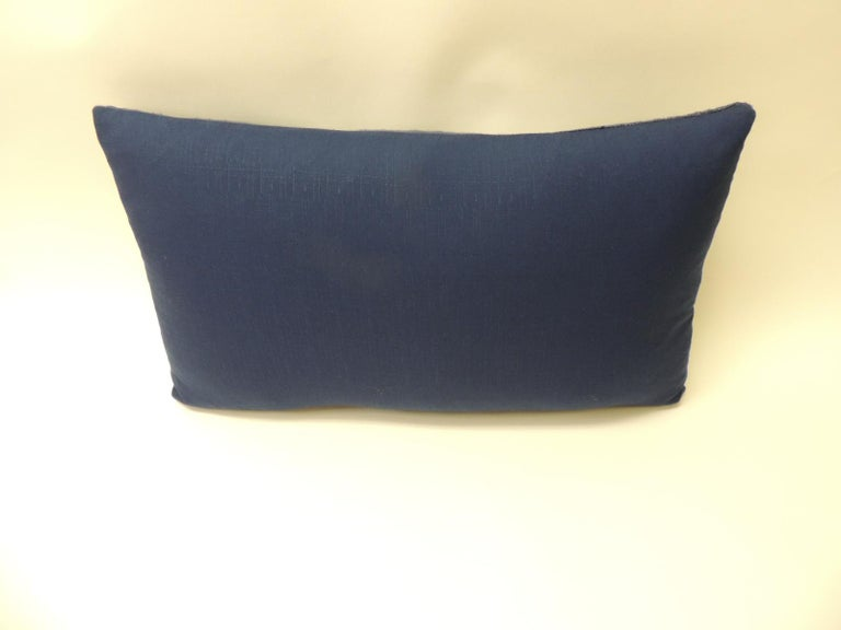 Japanese Indigo Batik Bolster Decorative Pillow In Good Condition For Sale In Wilton Manors, FL