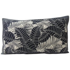 Japanese Indigo Batik Bolster Decorative Pillow