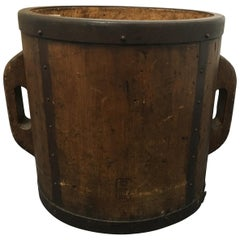 Japanese Ittomasu Rice Measure Bucket, Early 20th Century