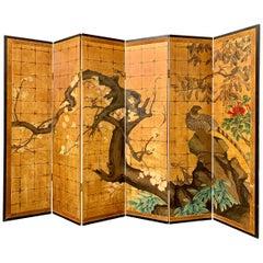 Japanese Jean Dunand Style Art Deco Gilt Folding Screen