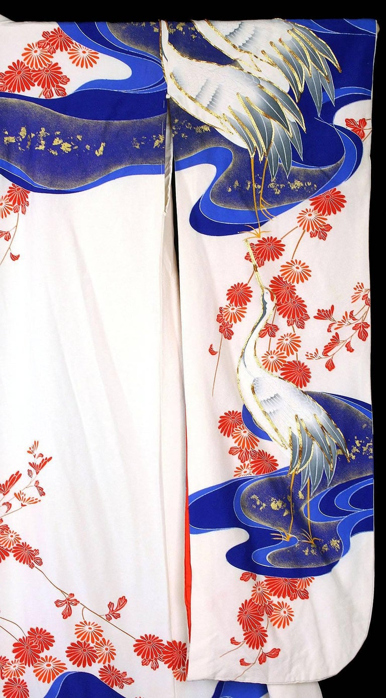 Vintage Silk Gold  Brocade Japanese Ceremonial Kimono, Art Deco Style For Sale 9
