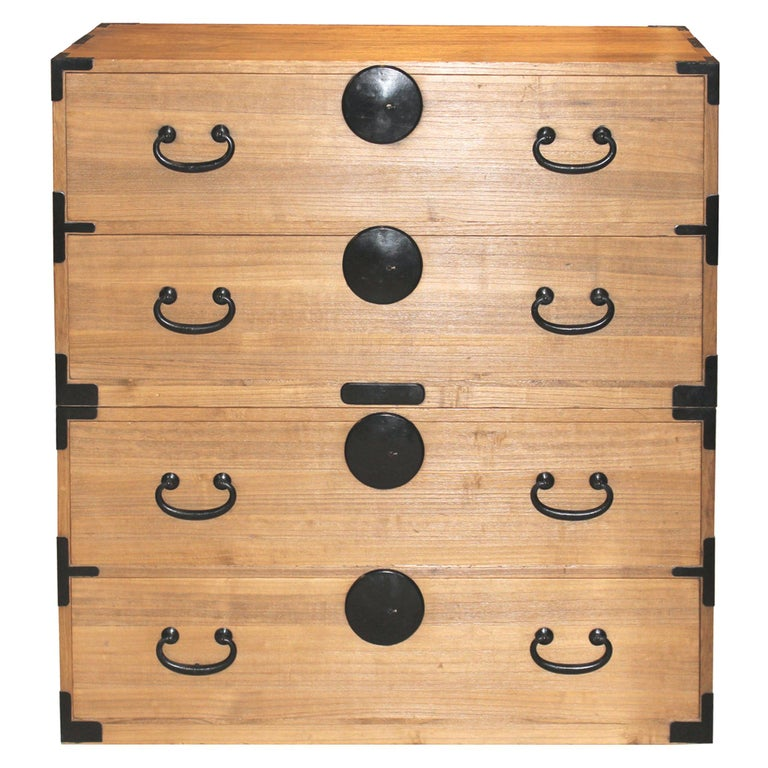 Japanese Kiriwood Clothing Chest For Sale