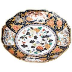 Japanese Ko-Imari Blue Medium Porcelain Serving Platter, Contemporary
