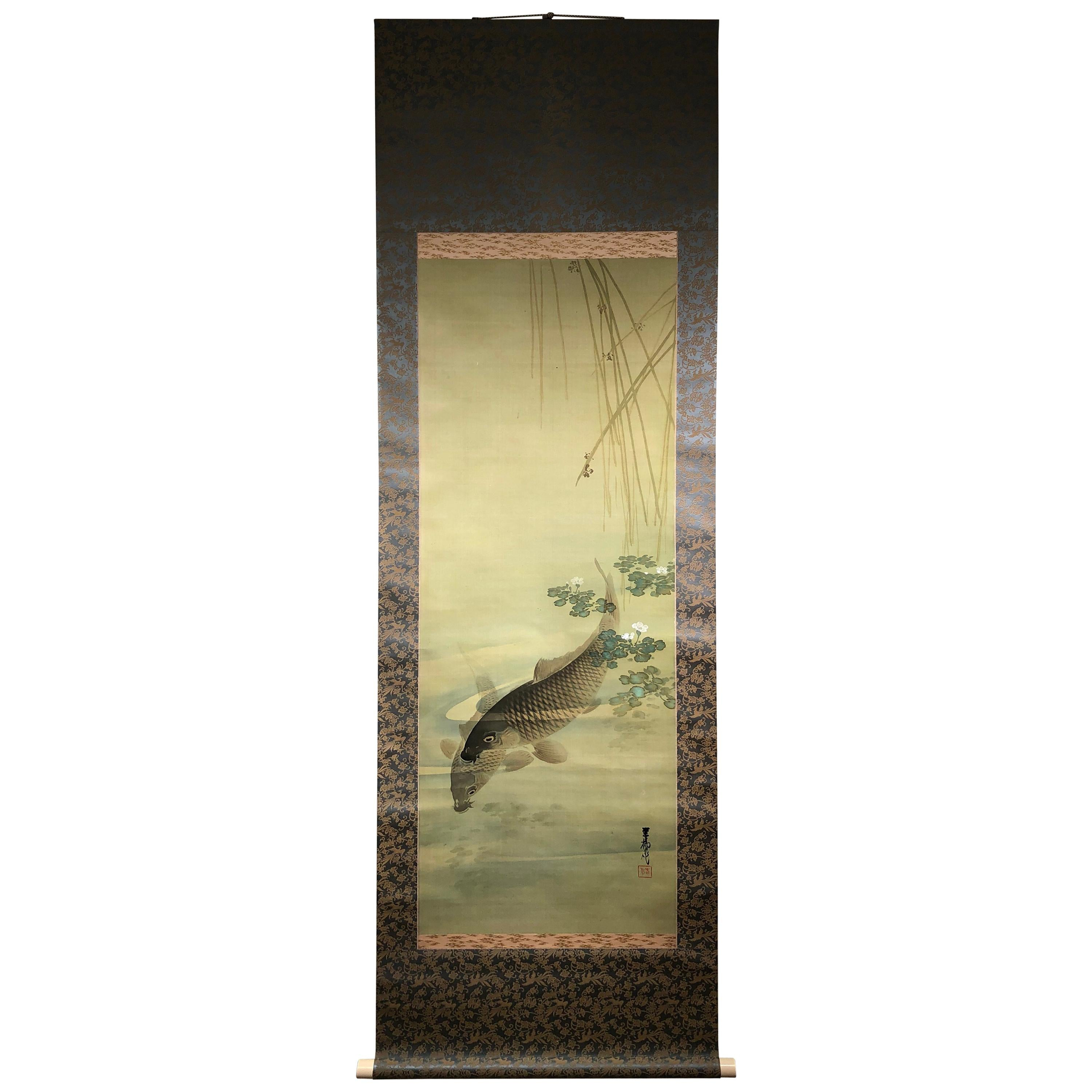 561a1ab0e Japanese Silk Paintings - 213 For Sale on 1stdibs