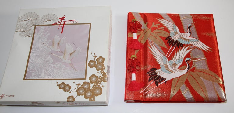 Japanese Kokuyo silk embroidery photo album.