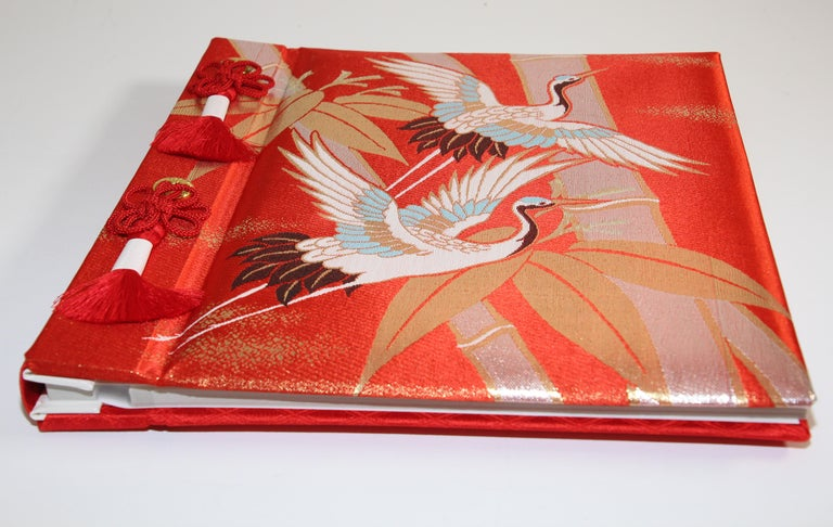 Japonisme Japanese Kokuyo Silk Embroidery Vintage Wedding Photo Album For Sale