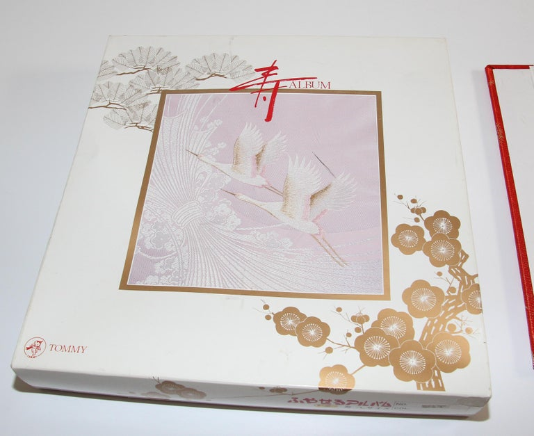 Japanese Kokuyo Silk Embroidery Vintage Wedding Photo Album For Sale 3