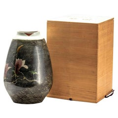 Japanese Kutani Porcelain Studio Vase by Nobuhiko Sueoka