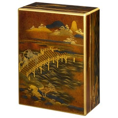 Japanese Lacquer Document Box and Cover