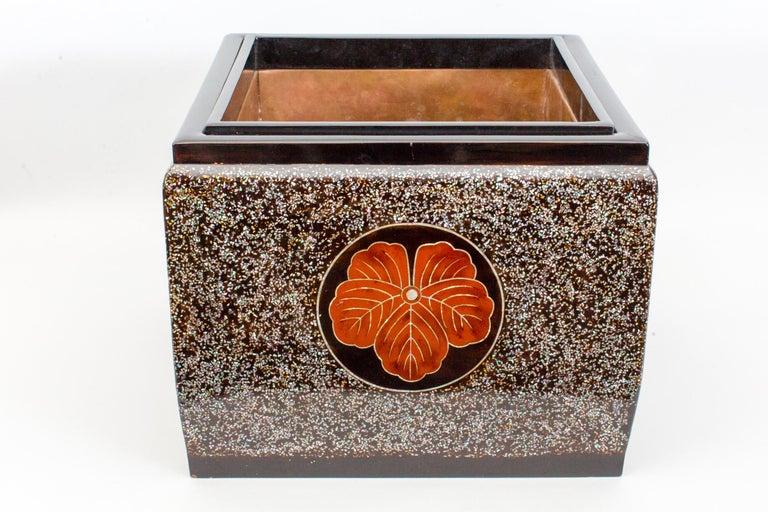 Copper Japanese Lacquer Hibachi (Brazier) For Sale