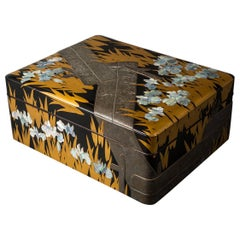 Japanese Lacquer Letter Box, Korin Style Subject