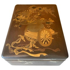 Japanese Lacquer Ryoshibako Document Box Meiji Period