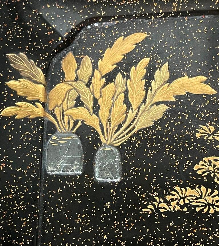 Japanese Lacquer Tray with Maki-e and Inlay Hara Yoyusai Edo Period For Sale 6