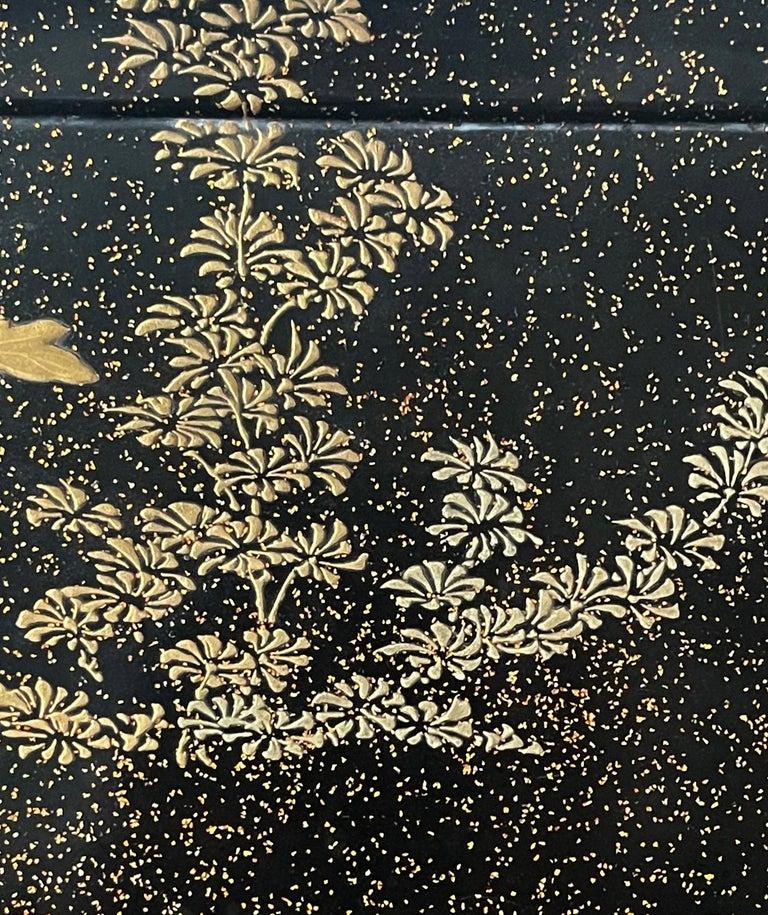Japanese Lacquer Tray with Maki-e and Inlay Hara Yoyusai Edo Period For Sale 7