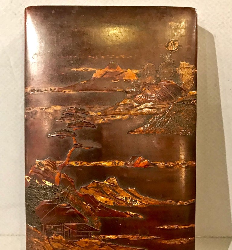 Chinoiserie Japanese Lacquer Writing Box For Sale