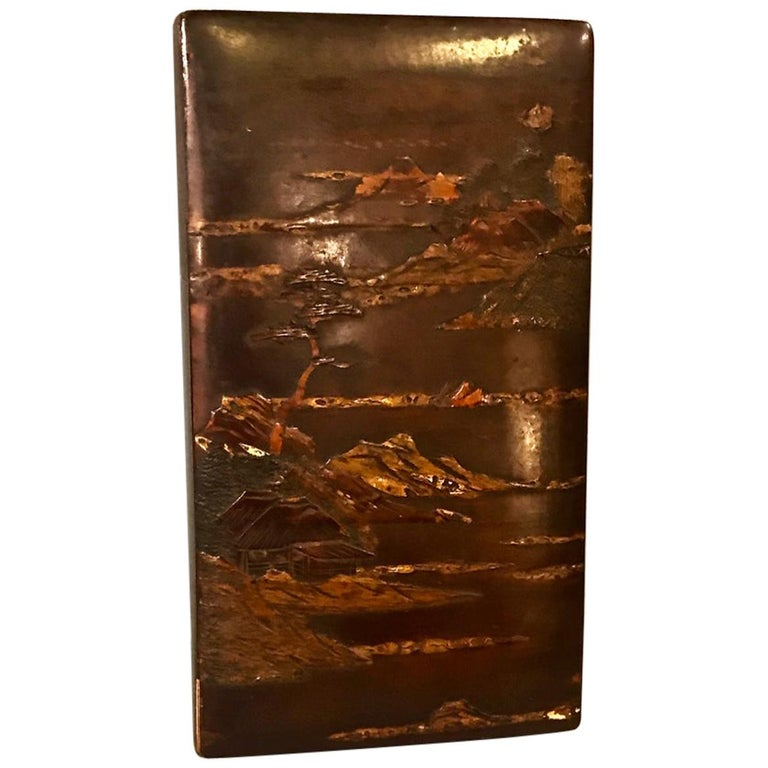 Japanese Lacquer Writing Box For Sale