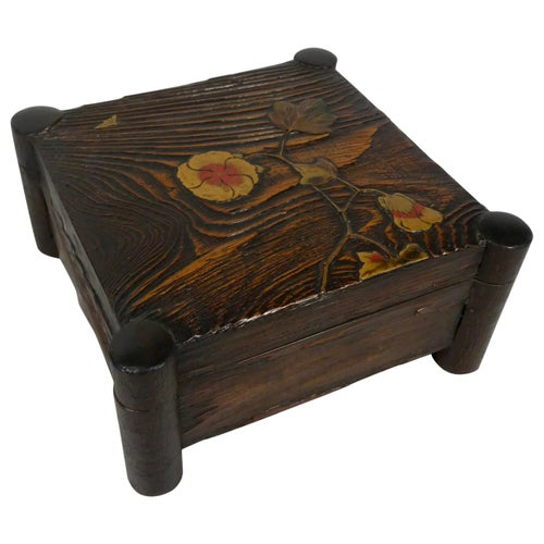 Japanese Lacquered Box and Cover, Meiji Period