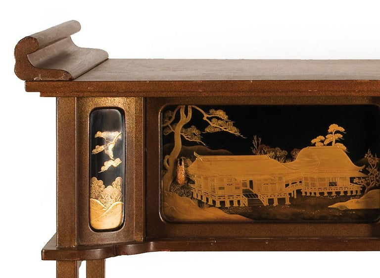 Japanese Lacquered Cabinet 'Shodana' from the Arashiyama Museum, 19th Century For Sale 1