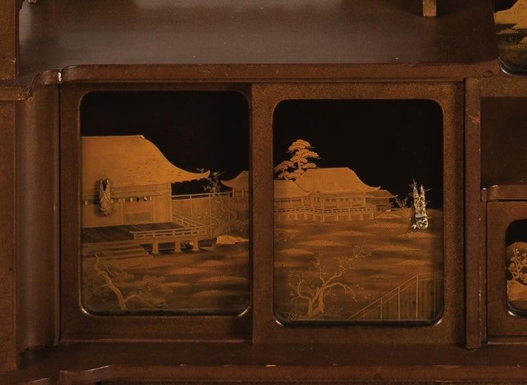 Japanese Lacquered Cabinet 'Shodana' from the Arashiyama Museum, 19th Century For Sale 2
