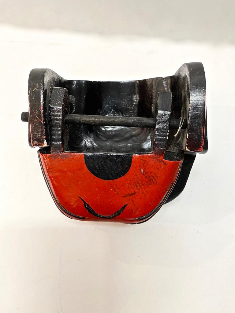 20th Century Japanese Lacquered Lion Mask For Sale