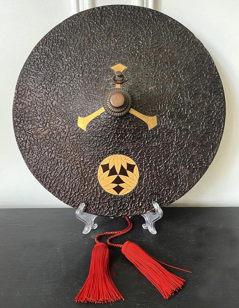 Japanese Lacquered Samurai Jingasa Hat Edo Period For Sale 10