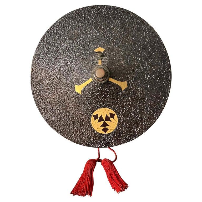 Japanese Lacquered Samurai Jingasa Hat Edo Period For Sale