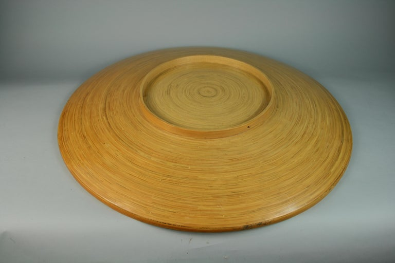 Japanese Large Bamboo Platter/Wall Hanging For Sale 6