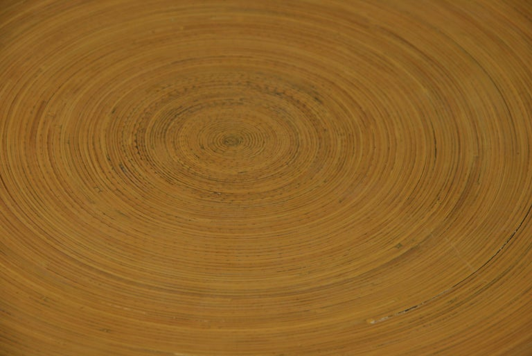 Japanese Large Bamboo Platter/Wall Hanging In Good Condition For Sale In Douglas Manor, NY