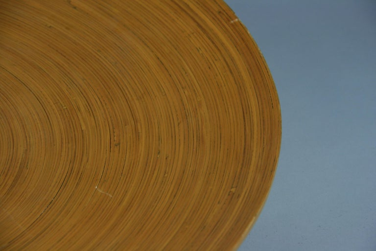 Mid-20th Century Japanese Large Bamboo Platter/Wall Hanging For Sale