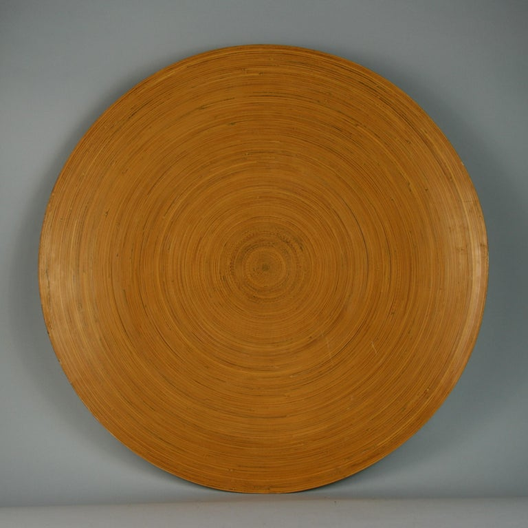 Japanese Large Bamboo Platter/Wall Hanging For Sale 2