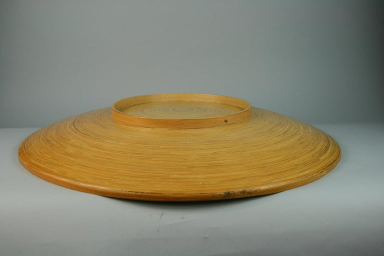 Japanese Large Bamboo Platter/Wall Hanging For Sale 4