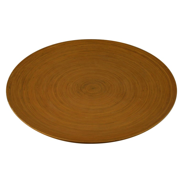 Japanese Large Bamboo Platter/Wall Hanging For Sale