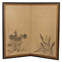 Japanese Lily Pond Screen