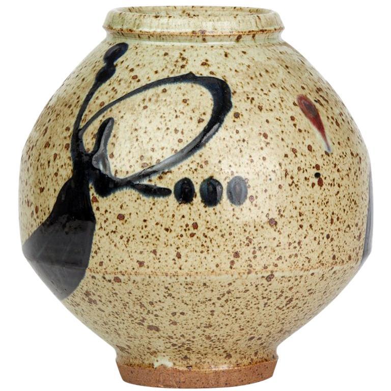 Japanese Mark Studio Pottery Vase, 20th Century For Sale