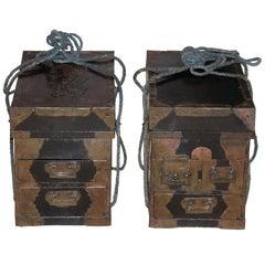 Japanese Medicine Boxes, a Pair