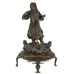 Japanese Meiji Bronze Guardian of the Sea