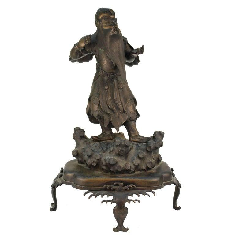 Japanese Meiji Bronze Guardian of the Sea