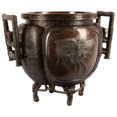 Japanese Meiji Period Bronze Jardinière, 19th Century