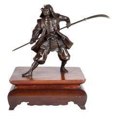 Japanese Meiji Period Bronze Samurai Warrior