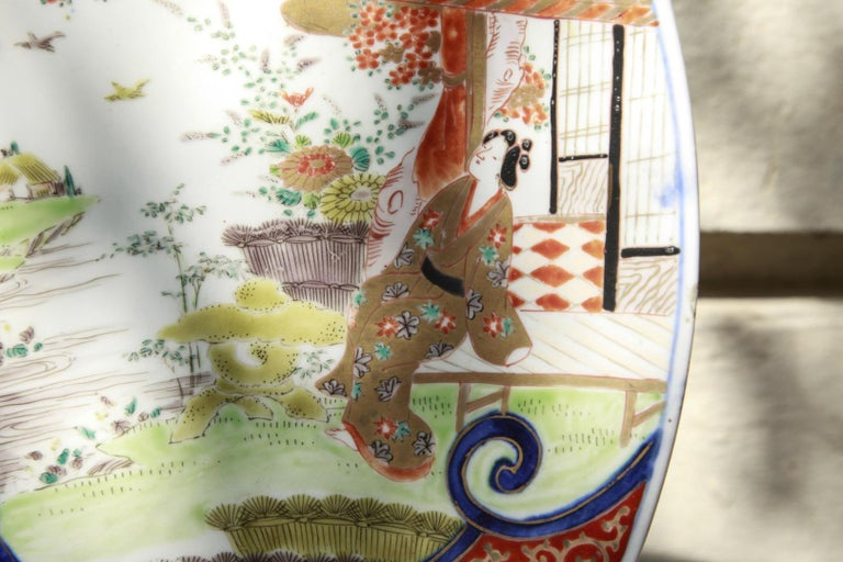 Japanese Meiji Period Imari Porcelain Charger, 19th Century For Sale 2