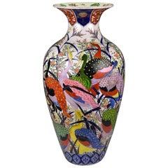 Japanese Meiji Period Imari Porcelain Palace Floor Vase