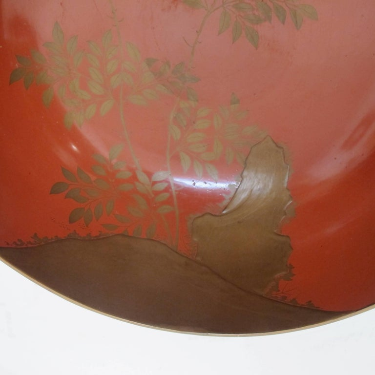 Japanese Meiji Period Lacquered Lidded Bowl For Sale 1