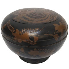 Japanese Meiji Period Lacquered Lidded Bowl