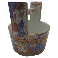 Japanese Meiji Porcelain Water Bucket Vase, circa 1880