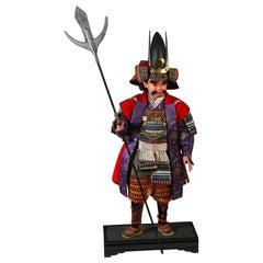 Japanese Meiji Samurai Ningyo Doll of Kato Kiyomasa in Iki Style