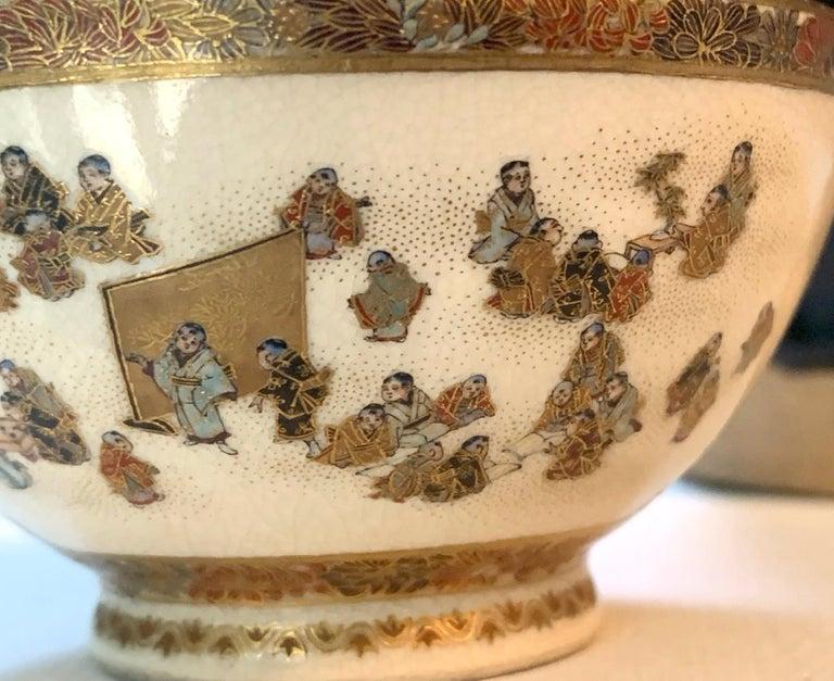 Japanese Meiji Satsuma Bud Vase Yabu Meizan For Sale 4
